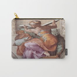 The Libyan Sybil Sistine Chapel Ceiling by Michelangelo Carry-All Pouch