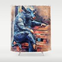 taurus Shower Curtains featuring Taurus by jbjart