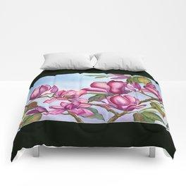 Pink Magnolia Comforters