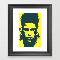 iphone case - yellow Framed Art Print