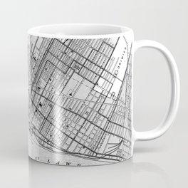 Vintage Map of Montreal (1906) BW Coffee Mug