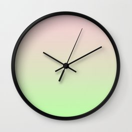 Pastel Ombre Millennial Pink Green Gradient Pattern Wall Clock