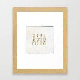 Clothespins - Drawing #1 Framed Art Print