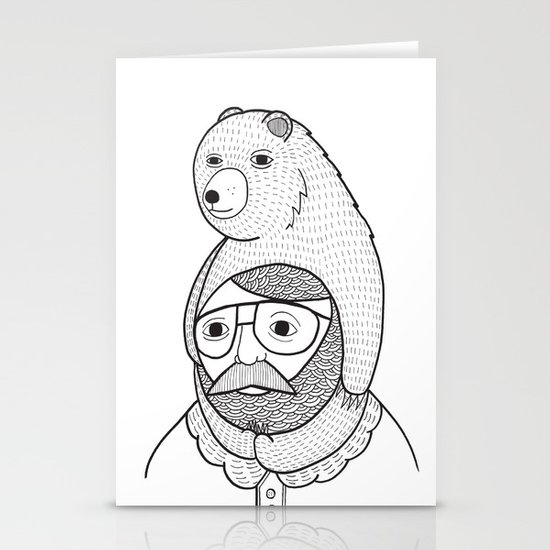 On how baby bears are often used as winter hats Stationery Cards