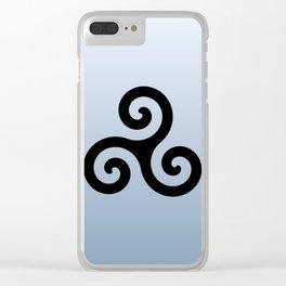 Triskele 6 -triskelion,triquètre,triscèle,spiral,celtic,Trisquelión,rotational Clear iPhone Case
