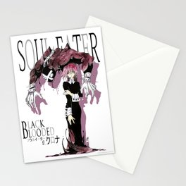 Black Blooded / White Stationery Cards