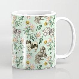 DOG ROSE & TOY SPANIEL - MINT Coffee Mug