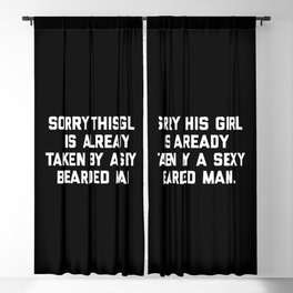 Taken Bearded Man Funny Quote Blackout Curtain