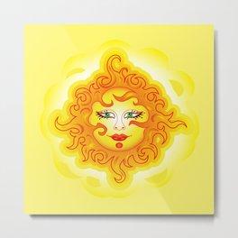 Abstract Sun G218 Metal Print