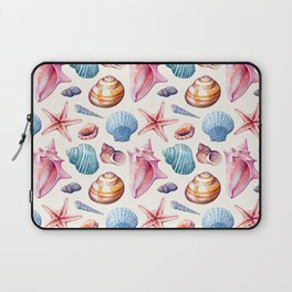 Seashells Pattern 1 - Colorful light Laptop Sleeve