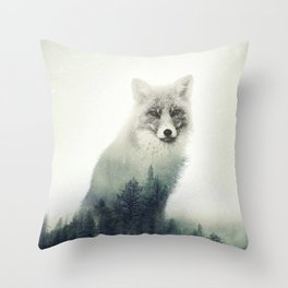 Fox, Forest Animal, Woodlands, Wilderness Throw Pillow