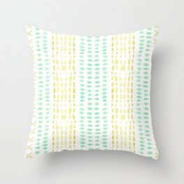 Striped dots and dashes Throw Pillow