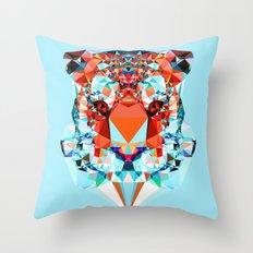 Geometric Tiger Throw Pillow