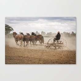 Ploughing the Field Canvas Print