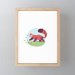 Red Panda cub Framed Mini Art Print