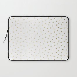 Delicate Gold Polka Dots Laptop Sleeve