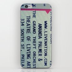Amanda Palmer & the GTO: Standing Room iPhone & iPod Skin