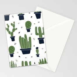 Cactus Plants Pattern- Green Stationery Cards