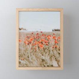 flower field Framed Mini Art Print