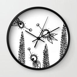 Lavender Wheat Fields Wall Clock