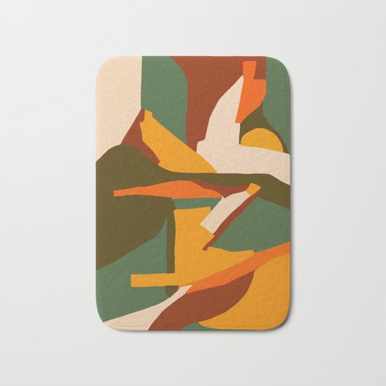 A New Way Of Seeing Abstract Landscape Bath Mat