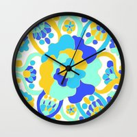 "amy hamilton Wall Clocks featuring ""Amy"" by Ma'at Silk"