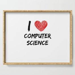 I Love Computer Science Serving Tray