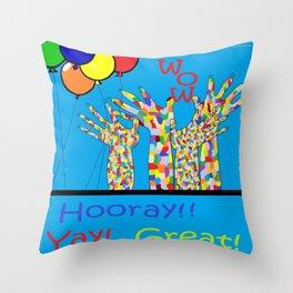 ASL Yay! Throw Pillow