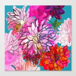 Garden of Dahlias Canvas Print