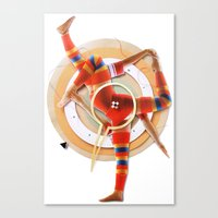 pivot Canvas Prints featuring Pivot | Collage by Lucid House
