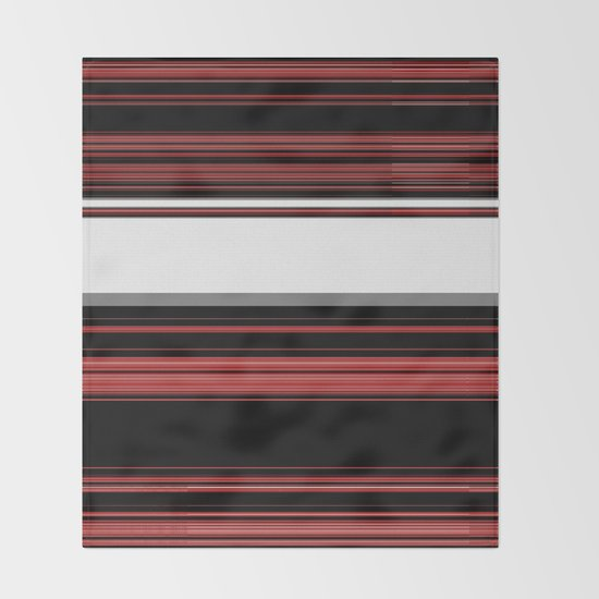 Red, Black and White with Gray Stripes by jessielee72
