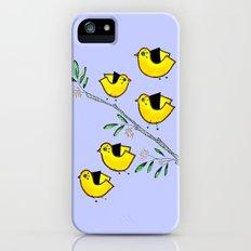 5 lil'yellow birds iPhone (5, 5s) Slim Case