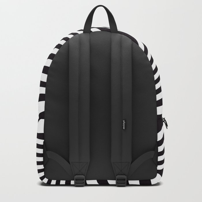 Black and White Pop Art Optical Illusion Backpack