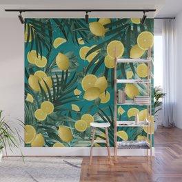 Summer Lemon Twist Jungle #5 #tropical #decor #art #society6 Wall Mural