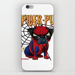 Spider Pug iPhone Skin