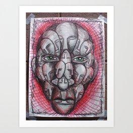 The Face of Man II  Art Print
