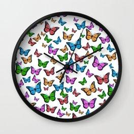 Butterfly Pattern (Butterflies) Wall Clock