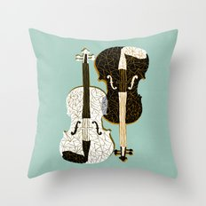 Two Violins Throw Pillow
