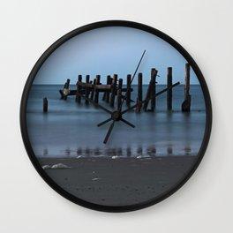 Happisburgh Beach Groynes Wall Clock