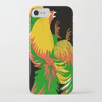 rooster iPhone & iPod Cases featuring Rooster by Saundra Myles