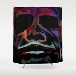Abstract Rainbow Camouflage III Shower Curtain