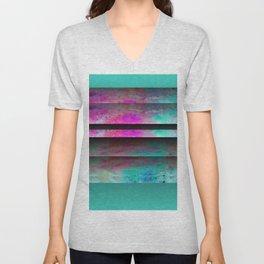 Turquoise Color Blinds Unisex V-Neck