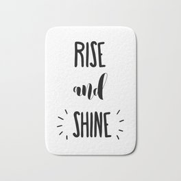 Rise And Shine Typography Bath Mat