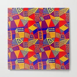 Segmented Abstract 070717 - Colors 01 Metal Print