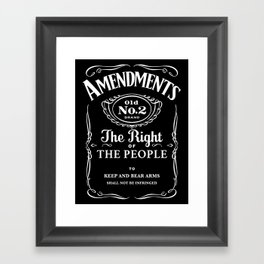 2nd Amendment Whiskey Bottle Framed Art Print