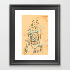 grenade girl Framed Art Print