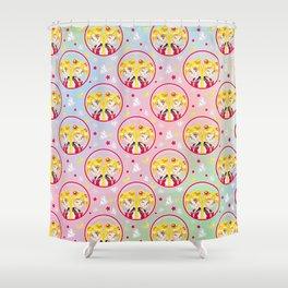 Usagi Tsukino VS Sailor Moon pattern Shower Curtain