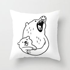 LOOK HOW CUTE! Throw Pillow