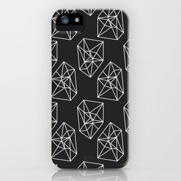 Almost Geometric Jewels Pattern #black iPhone Case