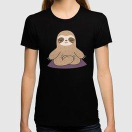 Kawaii Cute Yoga Sloth T-shirt